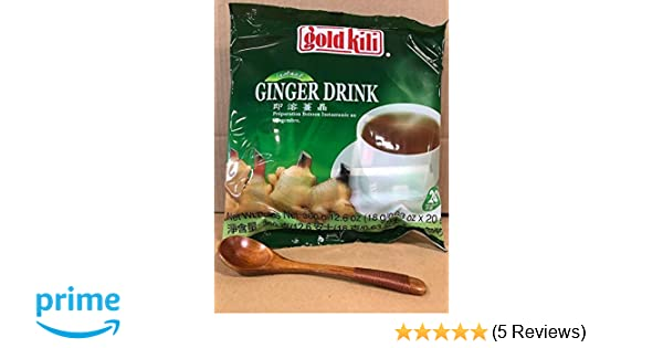 Amazon.com : Gold Kili Instant Ginger Beverage, 12.60 Ounce With FREE Natural Wood Spoon, By KC Commerce (Pack of 1) : Grocery & Gourmet Food