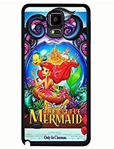 2015 2392444M494106810 Galaxy Note 4 Case, The Little Mermaid Disney Image Trendy Tough Case Cover for Samsung Galaxy Note 4
