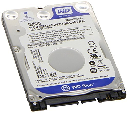 Western Digital 500GB 2.5' Playstation 3/Playstation 4 Hard Drive (PS3 Fat, PS3 Slim, PS3 Super Slim, PS4)