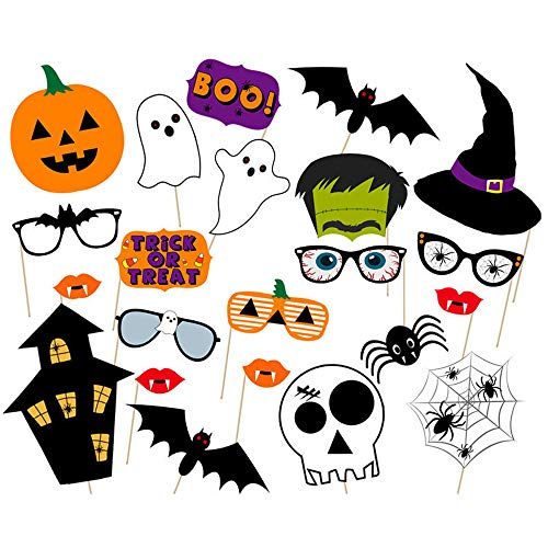 Soochat Halloween Photo Booth Props DIY Kit for