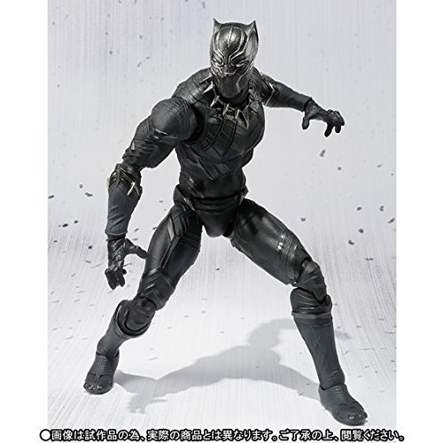 "Civil War SHF Toy 7/"" S.H.Figuarts Black Panther Figure Captain America"