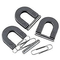 12 imanes de herradura con barra de metal