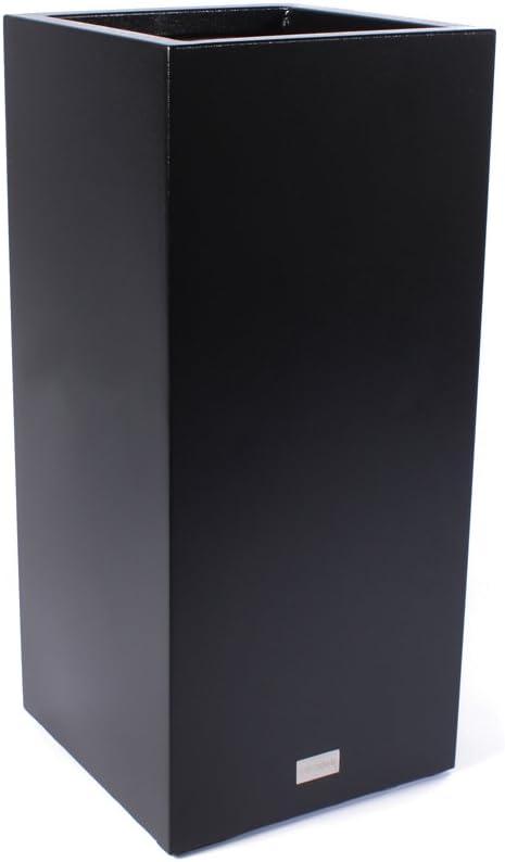 Veradek Metallic Series Galvanized Steel Tall Pedestal Planter, 40-Inch Height by 17-Inch Width, Black PEDVTLB