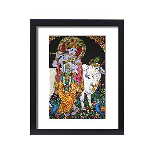robertharding Framed 20x16 Print of Krishna, Mariamman Hindu Temple, Ho Chi Minh City, Vietnam (13759718) (Best Hindu Temples In The World)