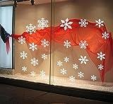 BIBITIME Merry Christmas White Snowflake Window