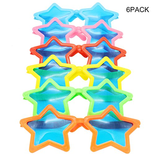 Sunglasses Party Favors,Sunglasses with Blue Lens for Costumes Cosplay,Fun Gift, Party Favors, Party Toys,Star Shaped 10