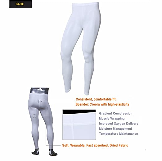 00b374fcdb1a12 Henri maurice Mens Compression Pants Leggings Tights Underwear Base Layer  Long Bottoms EP at Amazon Men's Clothing store:
