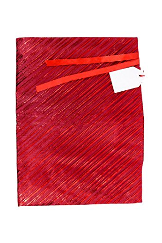 (Gift Wrap Bag by K-Kraft (Festive Red Stripes, 13 x 17.5 inches) )