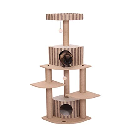 WW-pet supplies - Árbol para Gatos con Centro de Actividades para rascar Postes |