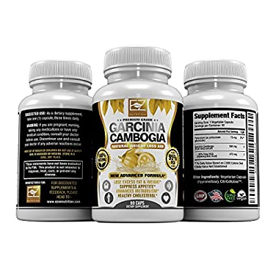 95% HCA Pure Garcinia Cambogia Extract, Highest Potency Of Raw Diet Pills, Extreme Carb Blocker & Fat Burner Supplement for Fast Weight Loss & Fat Metabolism, Fast Acting Appetite Suppressant