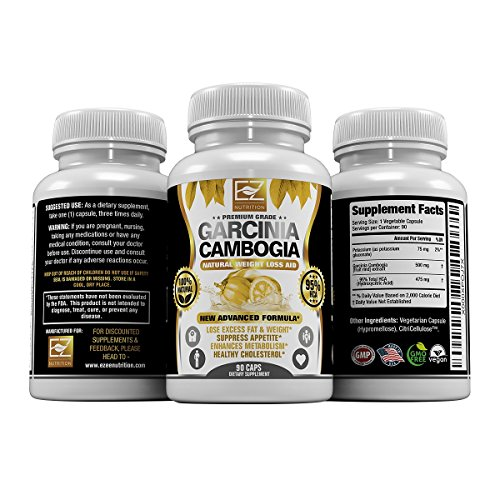 Extreme Appetite Suppressant (95% HCA Pure Premium Garcinia Cambogia Extract, Highest Potency Of Raw Diet Pills, Extreme Carb Blocker & Fat Burner Supplement for Fast Weight Loss, Fast Acting Appetite Suppressant)
