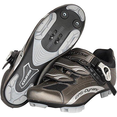 Exustar E-SM306 MTB Shoe, Grey, Size 42 by Exustar (Image #1)