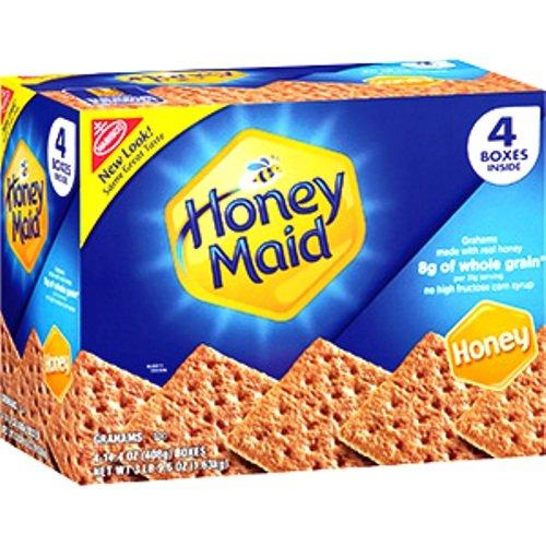 Nabisco Honey Maid Graham Crackers, Honey  4-14.4oz by Nabisco