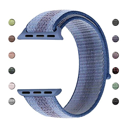 iCear Watch Band Woven Nylon Sport Loop Replacement for iWat