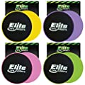 Elite Core Workout Exercise Sliders - Set of 2 Gliding Discs - Dual Sided for Carpet or Hard Floors