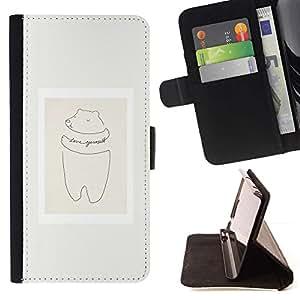 Momo Phone Case / Flip Funda de Cuero Case Cover - Cerdo Cita minimalista Marco en colores pastel - Samsung Galaxy S6 Edge Plus / S6 Edge+ G928