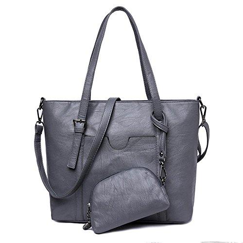 Aoligei Baotan femme trendy pu assumer gros chignon sac à main D