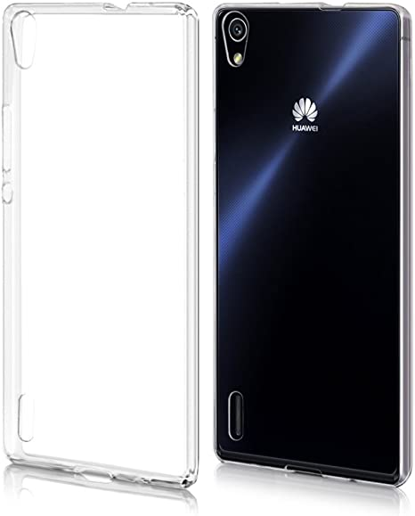 REY Funda Carcasa Gel Transparente para Huawei Ascend P7 Ultra ...