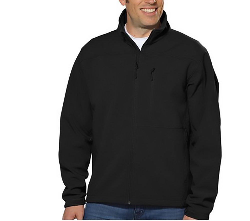 Kirkland Signature Mens 4-Way Stretch SoftShell Jacket, Dark Grey, XXL by Kirkland Signature