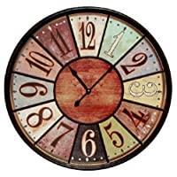 Jumbo Tuscan Wooden Number Wall Clock by...