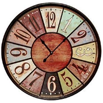 Jumbo Tuscan Wooden Number Wall Clock by VIP International
