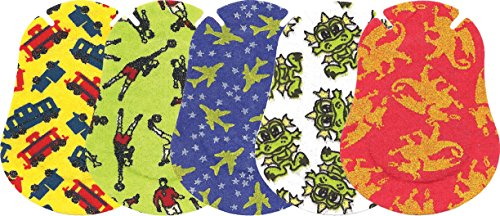 Ortopad Elite Boys Eye Patches - Patterns with Glitter Accents, Regular Size (50 Per (Eye Patches For Kids)