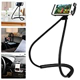Ediseng Universal Cell Phone Lazy Bracket Fully Adjustable Bracket Designed for Mobile Phone 7/Bed Clips, with Flexible Range, Can Protect Your Neck (with Gift Plush Bag)