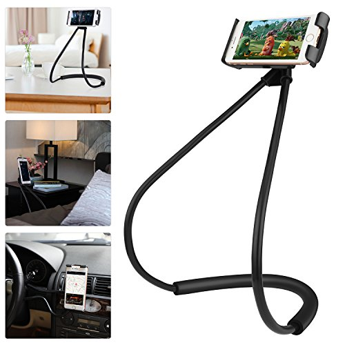 Ediseng Universal Cell Phone Lazy Bracket Fully Adjustable Bracket Designed for Mobile Phone 7/Bed Clips, with Flexible Range, Can Protect Your Neck (with Gift Plush Bag) by Ediseng