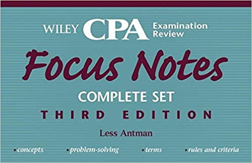 Wiley CPA Examination Review Focus Notes, 4?Volume Set