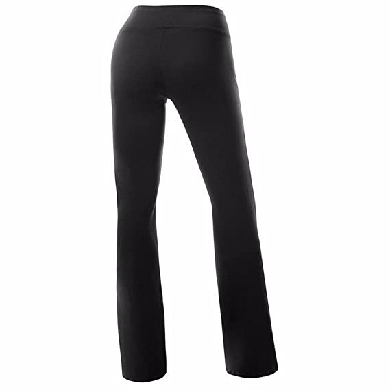 ac8c1d274b182 FITTOO Women Casual Boot Cut Yoga Pants Ladies Stretch Softy Trousers  Pilates Workout Gym leggings: Amazon.co.uk: Sports & Outdoors