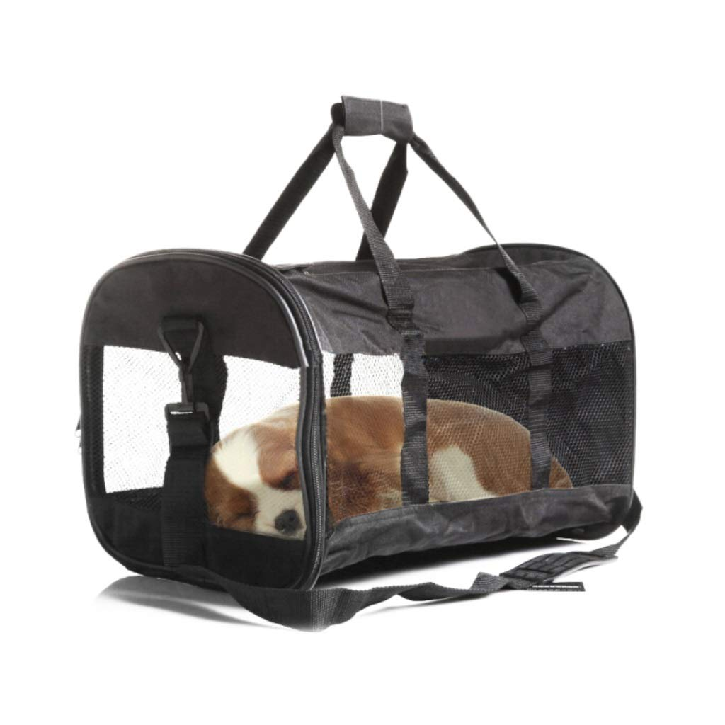 Travel Carrier Soft Sided Portable Bag for Medium Puppy and Cats, Visible Window & Breathable in Soft-Sided for Outdoor Travel Walking Hiking