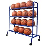 Pearson Portable High Capacity Basketball Rack | Ball Storage Cart