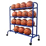Pearson Portable High Capacity Basketball Cart Rack