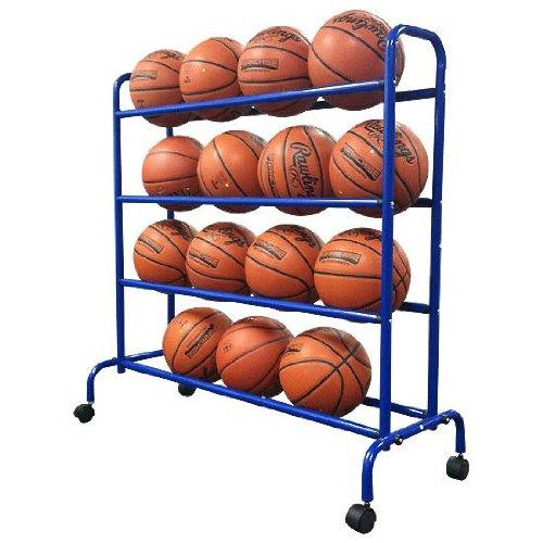 Coast Athletic Portable High Capacity Basketball Cart Rack