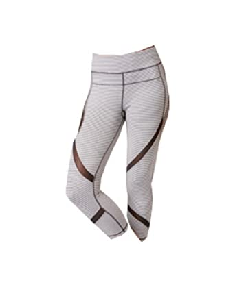 3b8d3c3fd0c7f Amazon.com: Calvin Klein Performance Striped Capri Leggings, Grey ...