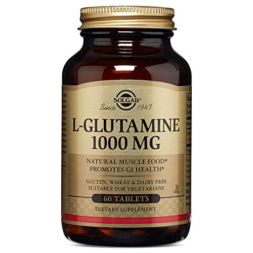 Solgar - L-Glutamine 1000 mg, 60 Tablets (Solgar L Glutamine 500 Mg Vegetable Capsules)