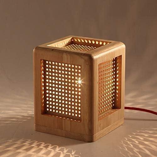 FZZ-light Lámparas De Escritorio Madera E27 lámpara de Mesa de Escritorio Creativo de Escritorio Caja de luz de Lectura del Dormitorio de Noche de iluminación: Amazon.es: Hogar