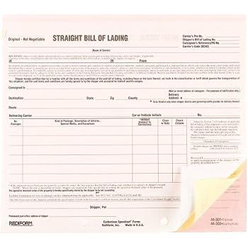 REDIFORM Speediest Bill Of Lading, Short Form, Carbonless Triplicate, 8.5 X  7 50 Sets Per Pack (6P695)