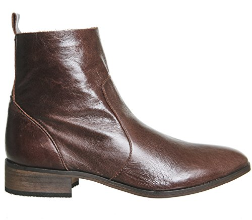 Boots Brown Leather Office Flat Ankle Ashleigh tWW6qz