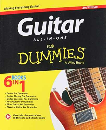 Guitar All-In-One For Dummies, Book + Online Video & Audio Instruction (Rock Songs For Dummies)
