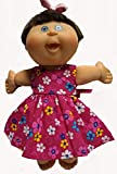 Doll Clothes Super store Raspberry Flower Dress Fits Preemie And New Born Cabbage Patch Kid Dolls