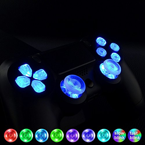 3e4dec073 eXtremeRate 7 Colors 9 Modes Touch Control Multi-Colors Luminated D-pad  Thumbsticks Face