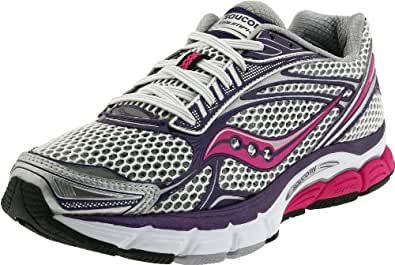 Saucony Women's Power Grid Triumph 9 Running Shoe,White/Purple/Pink,5 M US