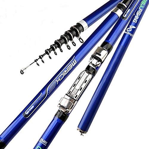 FASGION Carbon Fiber 3.6M 4.5M 5.4M 6.3M Spinning Fishing Rod M Power Telescopic Rock Fishing Rod Carp Feeder Rod Surf Spinning Rod (Length : 3.6 m)