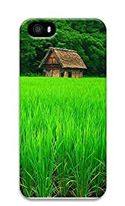 iPhone 5 5S Case Green Plants And Cottages 3D Custom iPhone 5 5S Case Cover