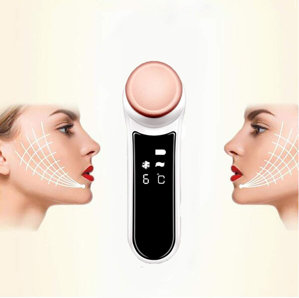 Facial Lift Machine Face Massagers Home Beauty Device Facial Skin Massaging System Beauty Instrument Firming Care Device Hot And Cold Skin Care Device Ultrasonic Facial Scrubber Vibration Portable Electric USB Rechargeable SJ_0515 FACE