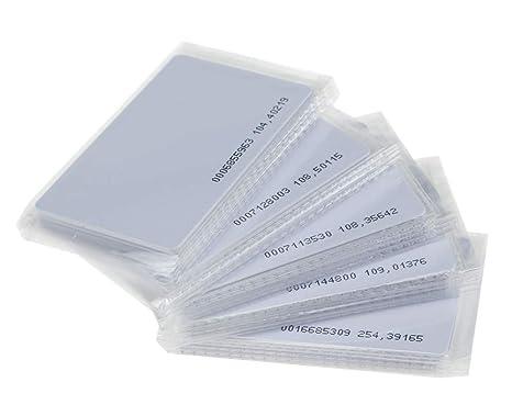 Pack of 10 EM4100 EM4200 Pl/ástico PVC Tarjeta de control de acceso Solo lectura KDL Tarjetas inteligentes blancas RFID Proximidad 125KHz TK4100