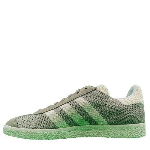 adidas Gazelle Primeknit, Zapatillas para Hombre, Azul Verde (Sesame/off White/trace Green)