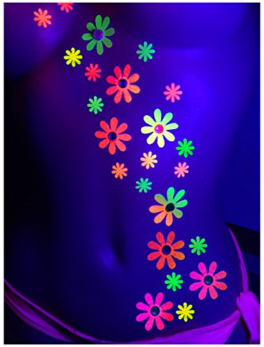 blacklight-daisy-body-art-stickers