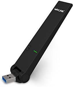 WAVLINK USB Wi-Fi Adapter for PC AC1300Mbps Wireless Network Adapter with High Gain Dual Band 5dBi Antenna Supports Windows and Mac OS 10.4~10.9
